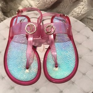 Juicy couture pink jelly sandals
